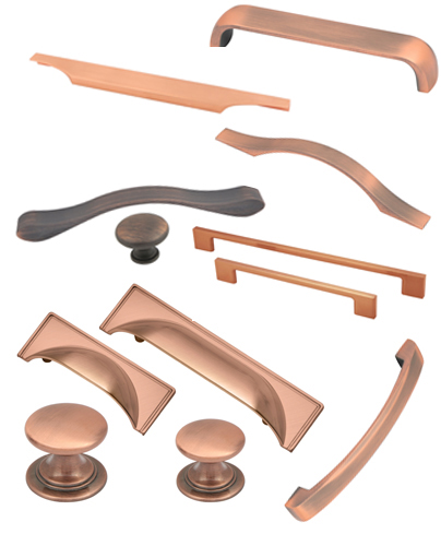 copper kitchen handles & knobs