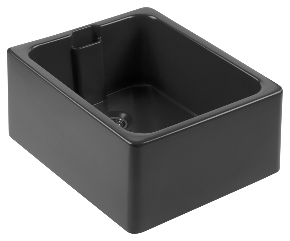 black ceramic Belfast sink
